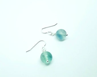 Chinese Fluorite earrings - Fluorite earrings - Gemstone earrings - Crystal earrings - Green earrings