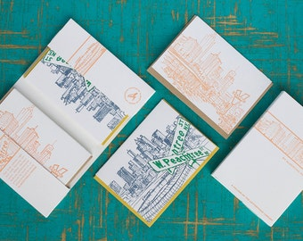 Atlanta - eight letterpress note cards