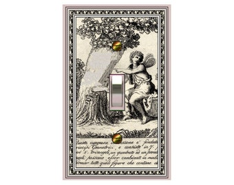 0316X - Medieval Angel and Tree - mrs butler switch plate covers -