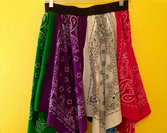 Handkerchief Skirt with Elastic Waistband (S/M)