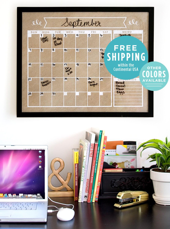 Family Calendar Wall : Calendar perpetual wall horizontal