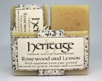 Natural Handmade Rosewood & Lemon Soap bar. Vegan Soap. Luxury Oil blend. Organic infusions. Cocoa butter. Shea butter. Olive Oil.