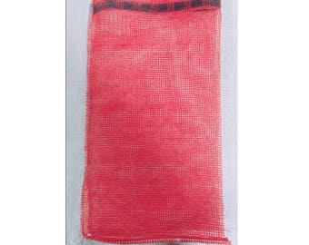 Produce Or Multi Purpose Mesh Bag 20 by 11 Inch 100 Count, Big Durable Storage Bag With Drawstring For Fruits, Vegetables, Firewood Or Items