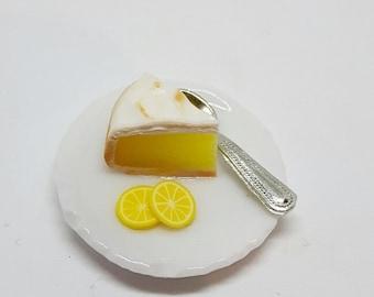 Dolls house lemon meringue pie