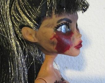Monster High Cleo de Nile horror ooak art doll