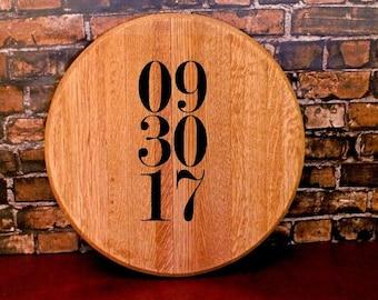 Wine Barrel Head, Wedding Guest Book Wood Alternative