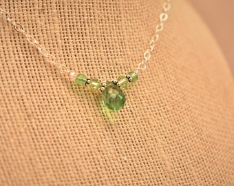 Lovely Necklace-Sterling and Chrysoprase
