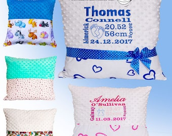 Birth Announcement Pillow, Cushion with Birth Details, personalised new baby pillow, newborn cushion, new baby gift, unique baby gift,