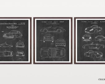 Porsche Patent Posters - Porsche Art - Porsche Wall Art - Car Patent - Sports Car Art - Porsche Patent Art - Porsche Carrera - Boxster - Car