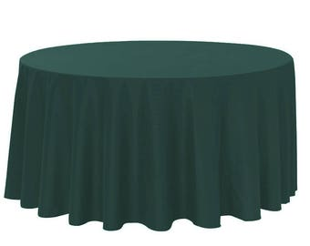 Quick View. YCC Linen   120 Inch Round Polyester Tablecloth ...