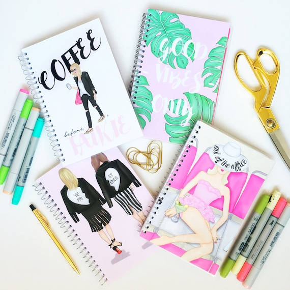 Customizable 2017 - 2018 fashion illustration, personalized planner, custom calendar, best friend planner, beach planner, custom planner