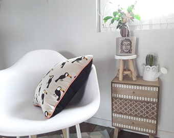 Toucan cushion thick cotton