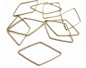 15pc 23x14mm antique bronze finish Rhombus links-8416