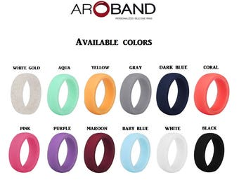 Silicone Ring Anniversary Gift Premium Silicone Wedding Rings for Woman Personalized Custom Wedding Ring Gift for Wife Safe ring Gym