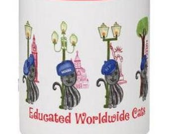 Educated Worldwide Cats - Grey or light brown