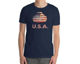 USA Curling T Shirt