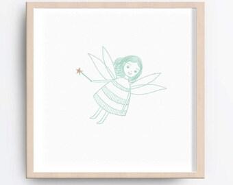 Fairy nursery art, Fairy nursery print, Nursery wall art, Baby nursery decor, Printable nursery art, Baby girl room decor, Baby girl gifts
