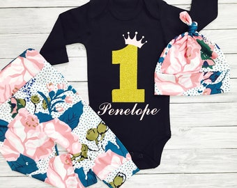 First Birthday Girl, First Birthday Outfit, First Birthday Shirt, First Birthday Outfit Girl, One Year Old Girl, First Birthday Girl Outfit