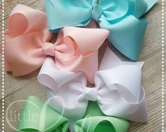 Wish You Were Here-Camp MJC-hair-bow bundle made to match Matilda Jane-boutique Hairbows-hairbows for little girls-baby hairbows-bundled bow