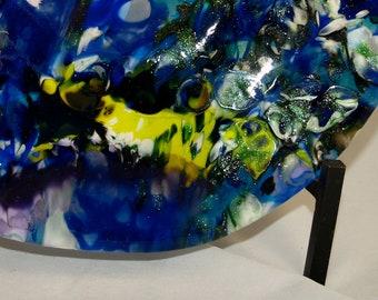 Blau gekochte Fused Glass Bowl