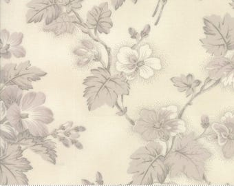 Sweet Blend Fabric - Moda Fabric - Half Yard - Floral Spring Sprouts Natural Ivory Tonal Large Scale Print Laundry Basket Quilts 42290 11