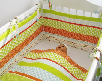 PROMO bumper cover matching Harlequin pattern and baby