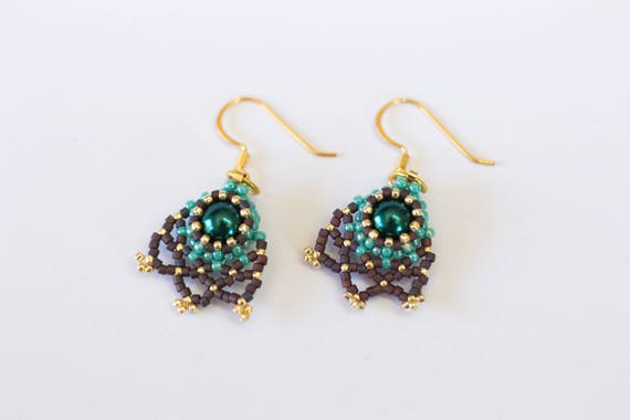 beatrice en photo tutorial item black index earrings beaded phoca gold thumb l beading