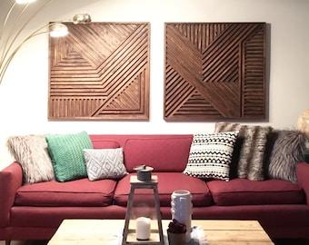 Geometric Wood Art, Wood Wall Art, Rustic Wall Art, Wood Art, Modern Wood Art