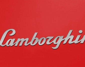 6 FT. LAMBORGHINI SIGN Showroom Garage Mancave Aluminum Sign Letters