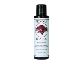 Red Oak Beard Shampoo - All Natural Beard Wash - Cleans and Conditions - Promotes Strong and Healthy Beards