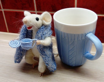 felt mouse, collectible mascot, mouse felt, handmade, for a boy, for a girl, a gift for every occasion
