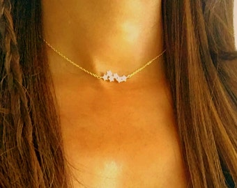 Gold Star Choker, star choker, star necklace, choker necklace, necklace choker thin, delicate gold choker ,simple gold choker, dainty choker