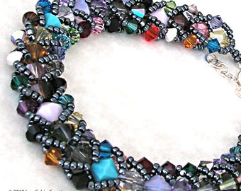 Northern Lights In Stained Glass Bracelet Tutorial and Kit
