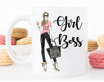 Girl Boss Mug - Girl Boss Inspirational Mug - Entrepreneur - Inspirational Gift - Unique Coffee Mug - Gift for Boss, Boss Mug, Girl Boss Cup