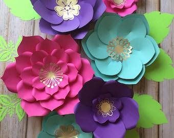 Set of 6 paper flowers/nursery decor/party decor