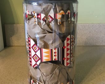 Brown Aztec Treat Jar