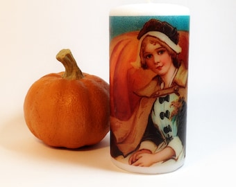 Thanksgiving Pilgrim Candle; Thanksgiving Table Decor; Thanksgiving Candle; Holiday Candle; Hostess Gift; Thanksgiving Table Centerpiece