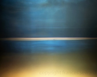 Night Sea Sky.  Fine Art Photograph.  Abstract Landscape. Giclee. Canvas. Horizon