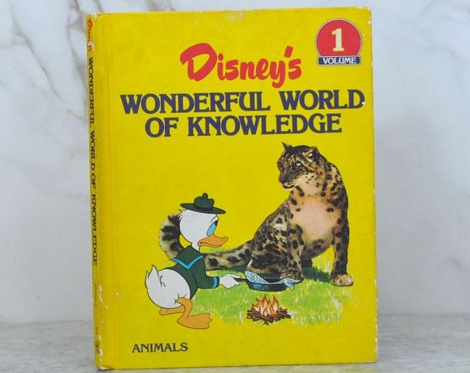 Vintage Disney Wonderful World of Knowledge 1982  Volume 1 Animals
