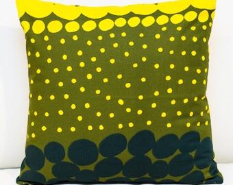 "Unique Marimekko Pillow, cover 16""x16"" ,Pattern (Jurmo) designed By Aino-Maija Metsola (40x40 cm)"