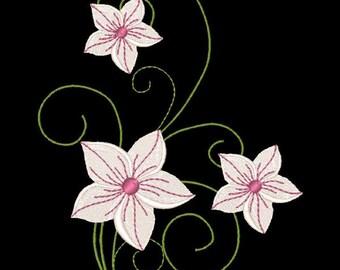 FANCY FLOWERS #2- 1 Machine Embroidery Design Instant Download 4x4 5x7 6x10 hoop (AzEB)