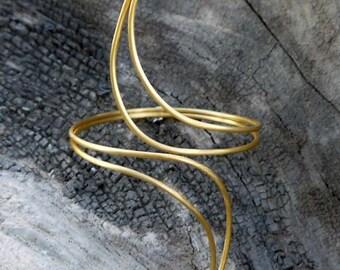 Gold cuff bracelet- 24k gold plated brass cuff bracelet - statement jewellery