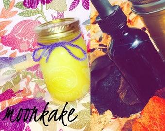 12 oz / 2 fl oz Moonkake & oil package
