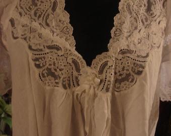 Vintage 1970s White Christian Dior Lingerie Dress Gown
