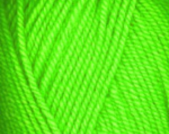 ENCORE 0479 - NEON GREEN - Plymouth Yarn - machine wash - easy care Stay Safe - Stay Warm - hats mittens scarves