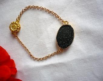 Bracelet Silver 925 gold and gemstone