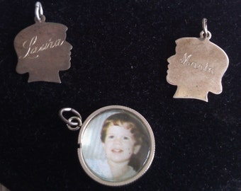 Sterling Remember Charms Sold Separately or Together, Can be Re-Engraved