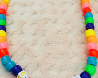 Confetti Beaded Necklace/Party Kei