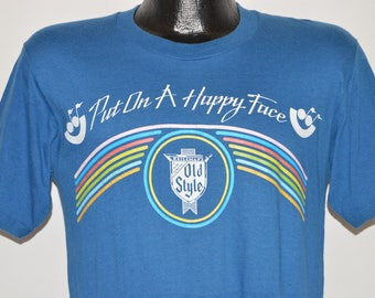 80s Old Style Beer Rainbow t-shirt Small