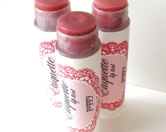 Poppy Lip Tint - Red Tinted Lip Balm - Ready to Ship Today